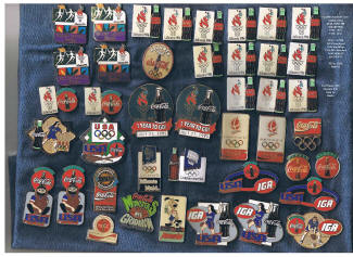 42 Olympic  and Cocoa Cola Pins - 1970's