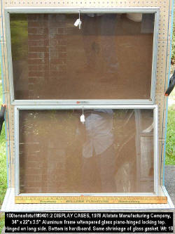 #3401 Jewelry sized 2 display cases by Allstate Mfg