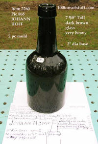 Item#2260 Johann Hoff brown glass beer bottle