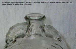 Top and handles of 100tos0058 old pint Apple Jug
