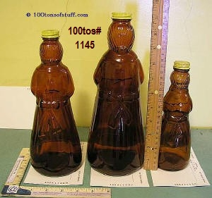 Old Aunt Jemima or Mrs. Butterworths glass bottles - Back