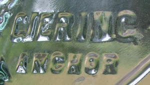 199tos1414: Close-up of brand name: CJERING/GJERING Anchor Brand.