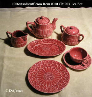 Estate item 0980 - child's tea - luncheon 24 pc set from 1950's