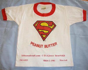 100tos1424:1981 Superman Peanut Butter boys T-Shirt - Licensed Apparal