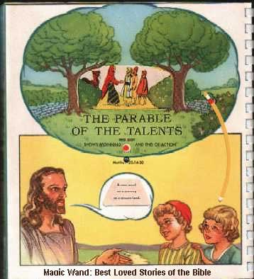 100tos#1673 The Parable of the Talents - MAGIC WAND BOOK 1949-50
