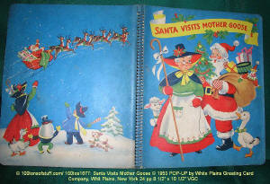 "100tos1677: PopUp ""Santa Visits Mother Goose"" 1953 - cover"