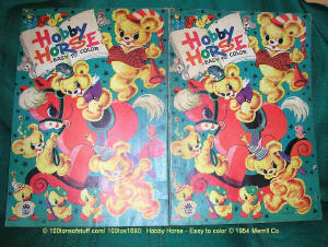 100tos1680: Hobby Horse Easy To Color 1954 Book