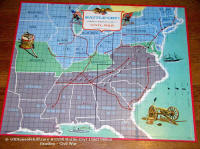"#1538 BOARD GAME: ""BATTLE-CRY"" ""Amer. Heritage Game of the CIVIL WAR.No4115-X (Game Board only) © 1961"
