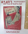 100tos1483: SOFTOL Cuticle Set - box cover w/Illus.