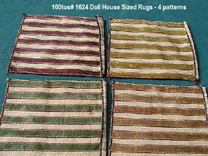 1624-4 Large doll furniture rugs circa 1950's
