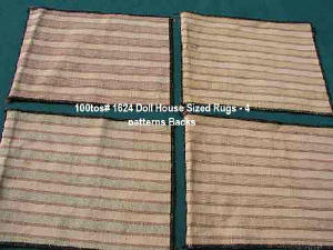 1624-Backs of 4 Large doll furniture rugs circa 1950's
