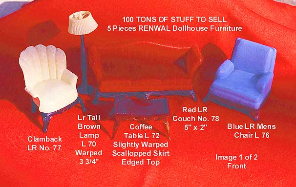 Renwal: Living room furniture - red couch sold.