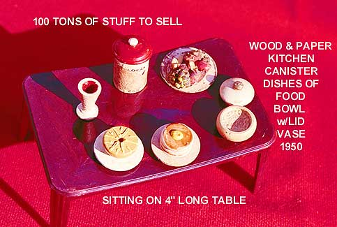 Tiny wooden dishes