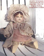 1604 - A - Composition & cloth doll orig clother - 1910