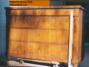 100tos1310 Furniture: Strong Chest w/out knobs; lovely wood pattern.