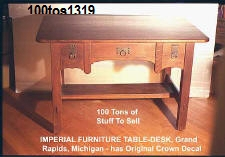 100tos#1319 Table-Craftsman furniture made by Imperial Furniture of Grand Rapid Michigan - see webpage.