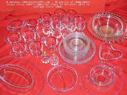 38 pieces of Candlewick Glassware circa 1940's