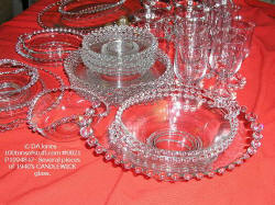 #0821- Candlewick - dishes, goblets, serving pieces - 1940's