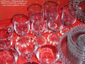 100tos0821 Candlewick cups & goblets