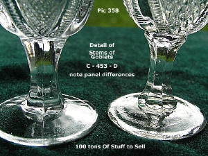 #453 showing stems of goblets