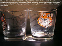 "#1364. Highball Glasses, ""Put A Tiger In Your Tank"" ""ESSO"" (now EXXON) Highball set w/Put A Tiger in your Tank phrases around glass multi-lingual but no in English, auto fillup gas premium: Set $26.75 + Ship USA"