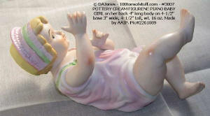 Item3007 Piano Baby Girl hand painted bisque 1970's view2