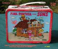 Metal cartoon lunch boxes from 1980's - click to go to page.