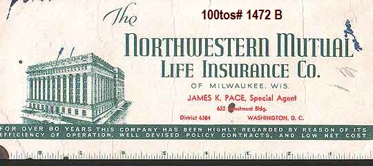 Blotter: The Northwestern Mutual Life Insurance Company - 1940's