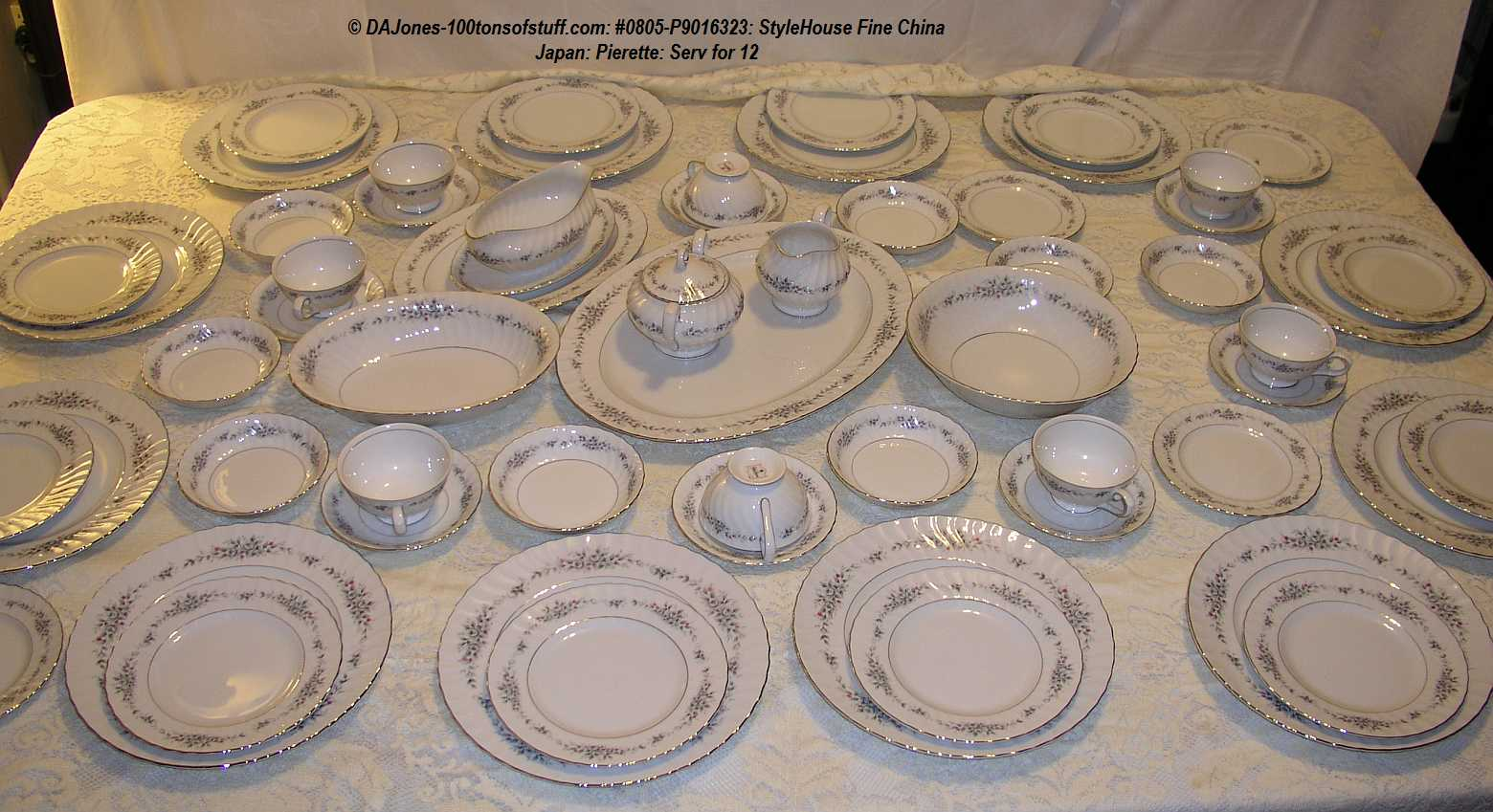 100tos#0805 12 Place Setting Of Stylehouse Fine China
