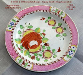 Pottery: old Gaudy Dutch King's Rose plate.