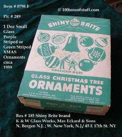 0798 F box of 12 Shiny Brite small ornaments - this is orig box.