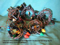 0798-M-PB246484-6 XMAS tree lightstrings with some bulbs - double wire - working