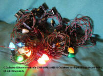 0798-M-PB246485-6 XMAS tree lightstrings with some bulbs - double wire - lit UP working
