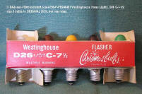 0798-P-PB246491-XMAS-5 Westinghouse-C7 1/2 Bulbs-original box