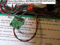 "1206-B-PB246481 XMAS TREE LIGHTS ""Imperial Tree Lights"" CLOSEUP Square UL tag.""UL"" is registered trademark."