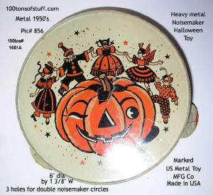 Item 1661A - Halloween Metal 1950's Noisemaker for sale