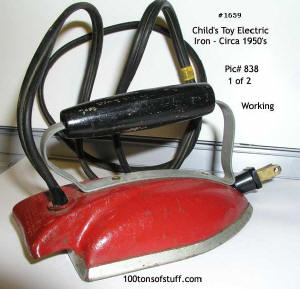 1950's Child's real Electric Iron - working